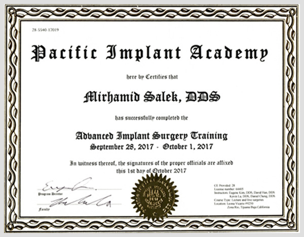 pacific implant academy